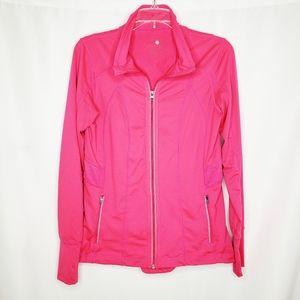 Tangerine Neon Pink Athletic Zip Jacket M